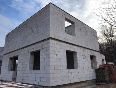 Завершение кладки второго этажа в Лукошкино