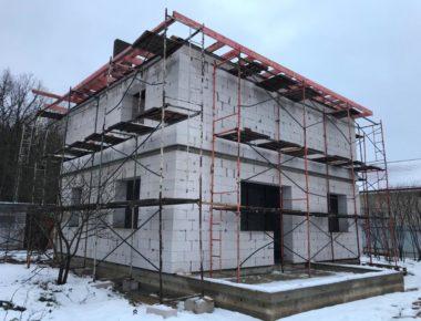 возведение крыши дома-из газобетона лукошкино