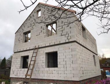 Готовый второй этаж из газосиликатных блоков в деревне Чиверево