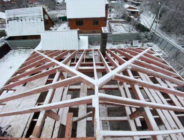 возведение крыши дома из газобетона деревня лукошкино