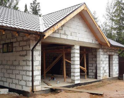 Специфика строительства гаражей из газобетона