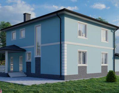 Проект двухэтажного загородного дома с гаражом GH20Г-226