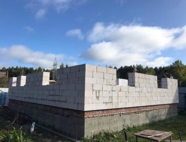 Возведение стен из газобетона Мытищи д.Чиверево