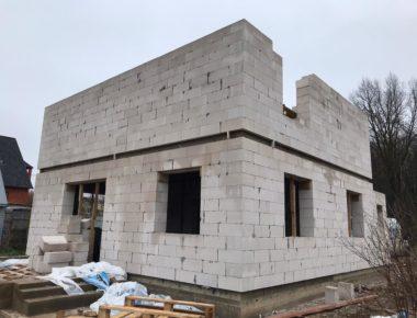 Возведение второго этажа из газобетона в Лукошкино