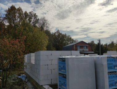 Строительство первого этажа из газобетона в деревне Лукошкино