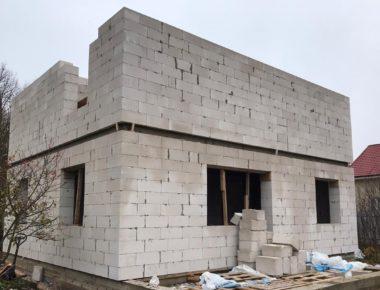 Строительство дома из газобетона, возведение второго этажа в деревне Лукошкино