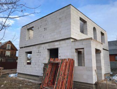 Готовый второй этаж из газобетона в деревне Лукошкино Подольский район