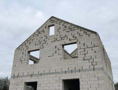 Строительство дома из газобетона без кровли в Чиверево