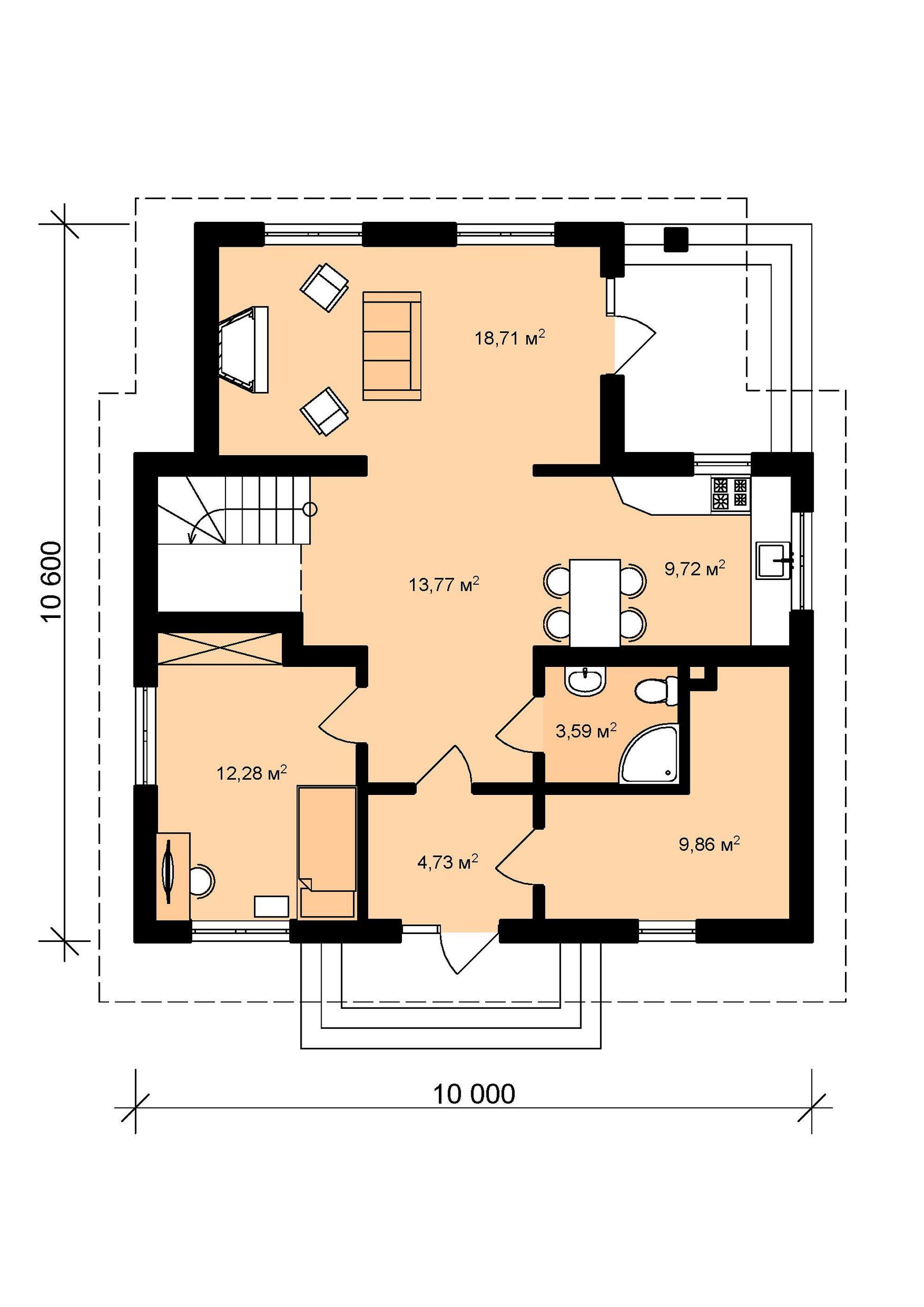Алма- План 1 этажа