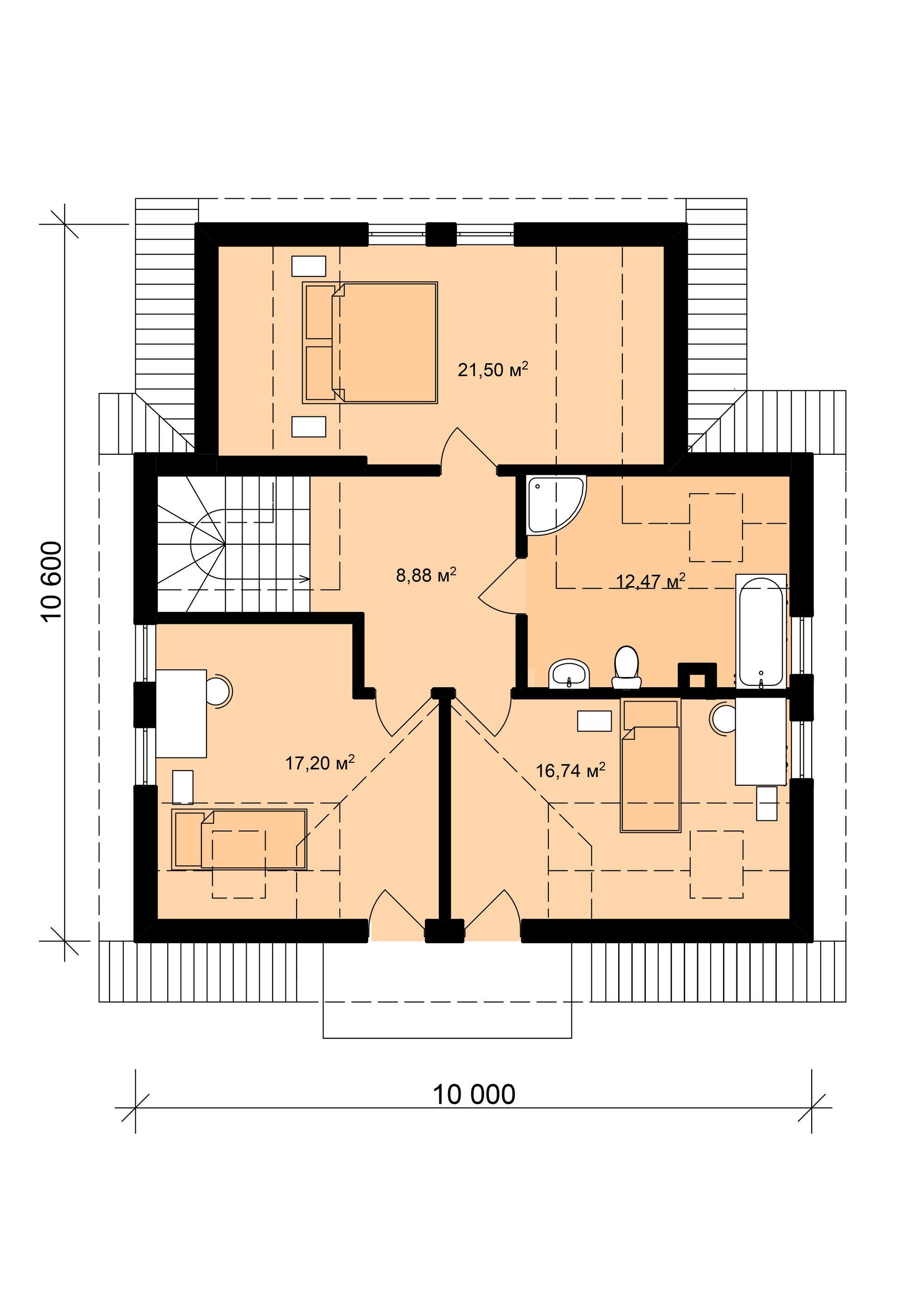 Алма- План 2 этажа