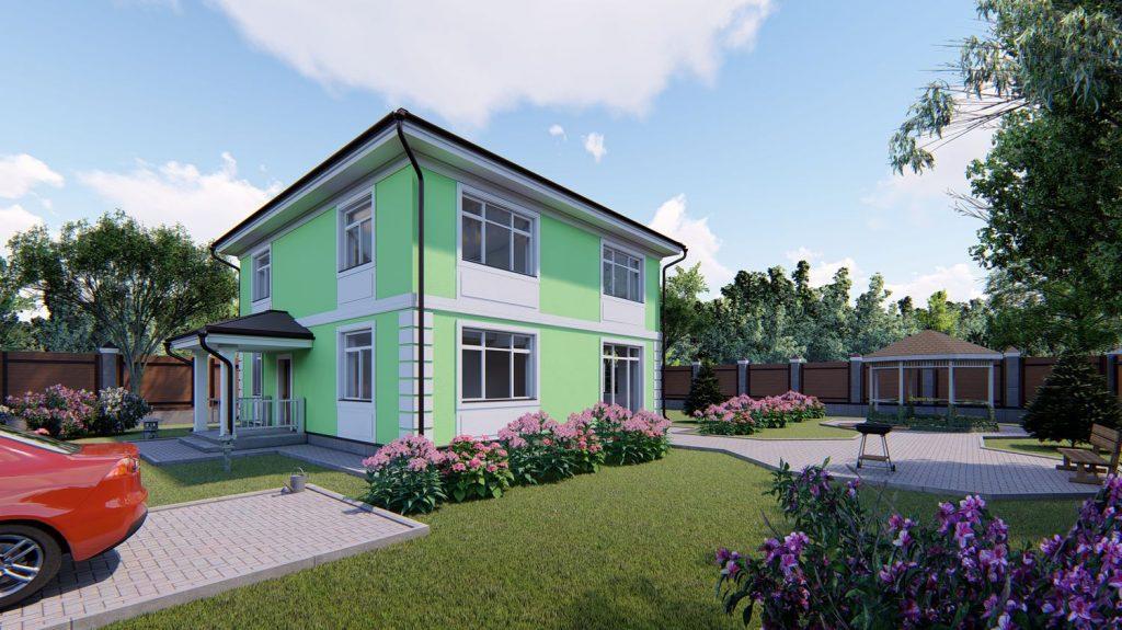 Проект дома GH20-169 - визуализация 01