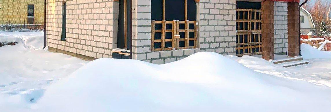 Особенности бетонирования и кладки в зимний период.