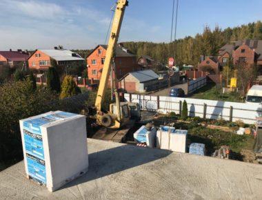 Подготовка кладки второго этажа из газобетона в Чиверево