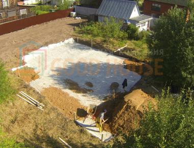 Подготавливаем основание фундамента в Подольске деревня Лукошкино