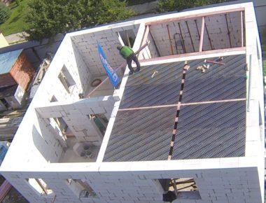 Подготовка для заливки плиты перекрытия 1 этажа