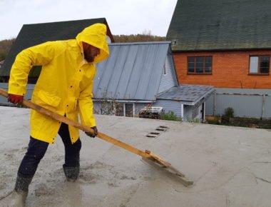Разравнивание бетонированного межэтажного перекрытия