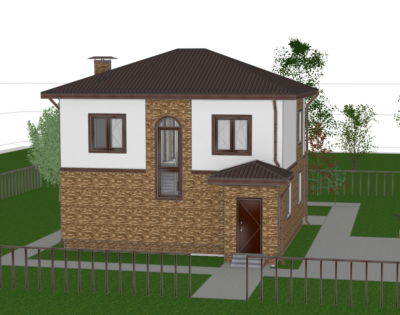 Визуализация проекта частного дома из газобетона (1)