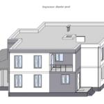 Визуализация дворового фасада