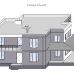 Визуализация главного фасада