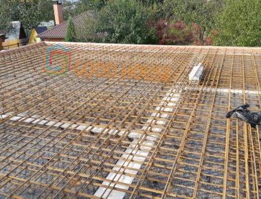 Заливка плиты перекрытия 1 этажа в деревне Чиверево