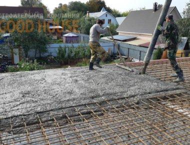 Заливка плиты перекрытия 1 этажа в Мытищах